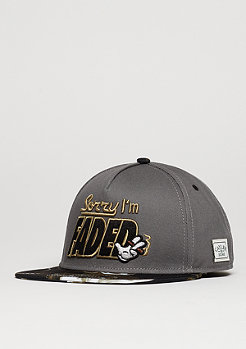 Snapback-Cap GL I´m Faded dark grey/black/gold