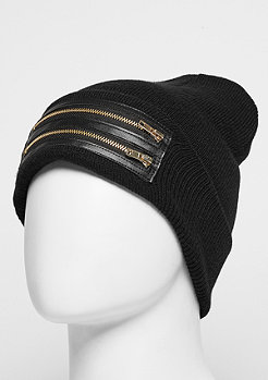 C&S BL Beanie Zipped Old School black/gold