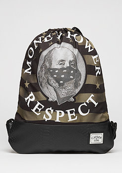 C&S WL Gymbag Money Power Respect black/gold/white
