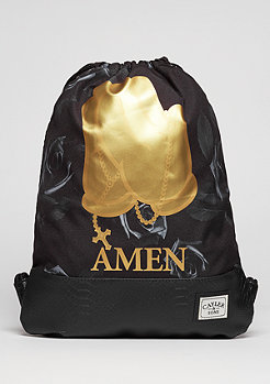 C&S WL Gymbag Amen black/gold