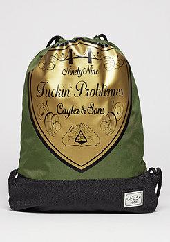 C&S WL Gymbag probeme olive/black/gold