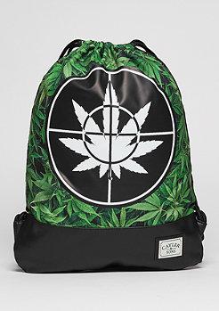 Turnbeutel GL Gymbag Defend Your Crops green leaves/black