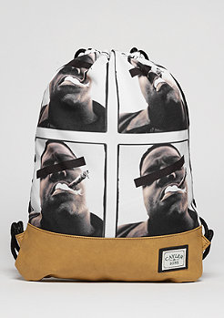 C&S GL Gymbag Bedstuy black/mc/brown