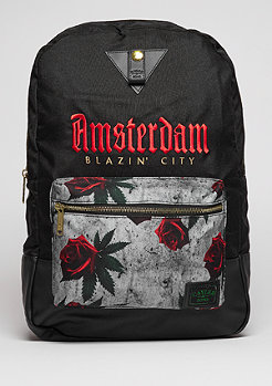 C&S GL Backpack Amsterdam Uptown black/red/mc