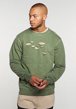 C&S BL Crew Ripped olive/olive