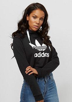 Hooded-Sweatshirt Crop black