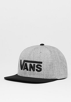 Snapback-Cap Drop V heather grey/black