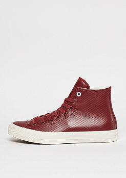 Chuck Taylor All Star II Leather Hi red block/parchment/gum