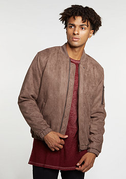 Velours Bomber taupe