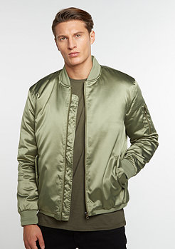 Jacke Satin Bomber light olive