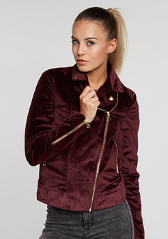 Velvet Bikerjacket bordeaux