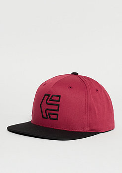 Snapback-Cap Icon 7 burgundy