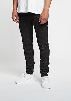 C&S Biker Denim Pants black
