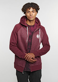 Hooded-Zipper E Corp Zip burgundy