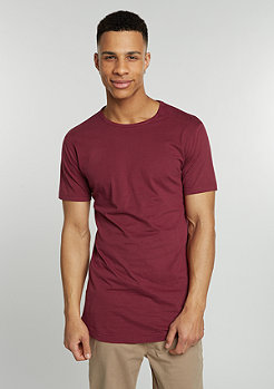 T-Shirt Peached Shape Long burgundy