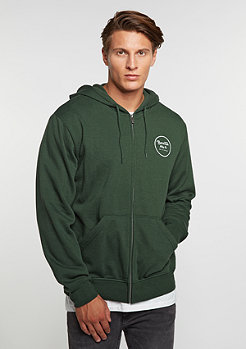Hooded-Zipper Wheeler Fleece forest green