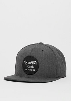 Snapback-Cap Wheeler charcoal heather