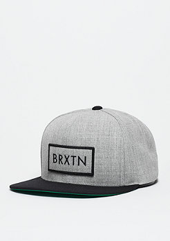 Snapback-Cap Rift light heather grey/black