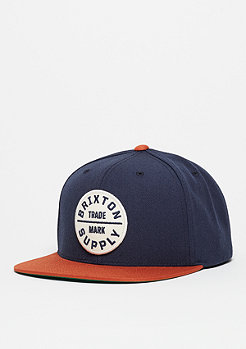 Snapback-Cap Oath ||| navy/copper