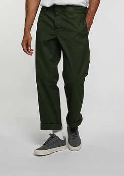 Chino-Hose Straight Work Pant olive green