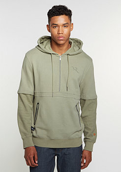 Hooded-Sweatshirt grey/olive