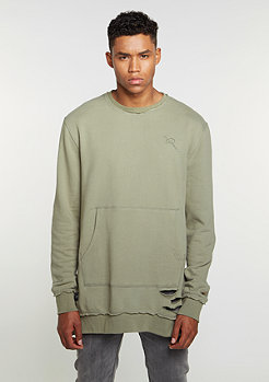 Sweatshirt Crewneck grey olive