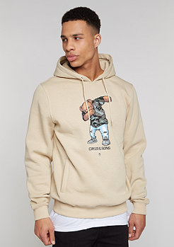 Hooded-Sweatshirt Crew Dabbin sand/mc