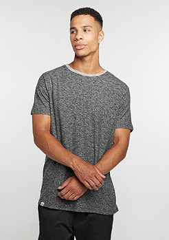 T-Shirt Curved dark grey melange