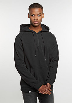 Hooded-Sweatshirt Flatlock black