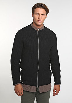 Sweatshirt Knitted Zip black