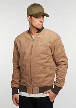 Übergangsjacke Crafted Suede Letterman new era rust