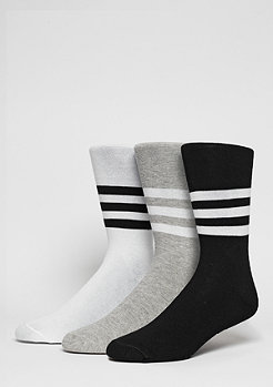 adidas Thin Crew Stripes 2PP white/black/medium grey heather