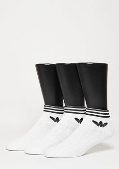Trefoil Ankle Stripes 3PP white/black