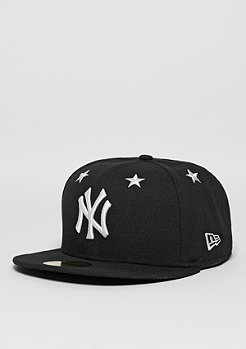 Fitted-Cap 59Fifty Star Crown MLB New York Yankees black/optic white