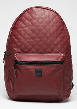 Rucksack Diamond Quilt Leather Imitation burgundy