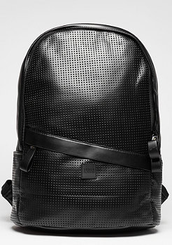 Perforated Leather Imitation black