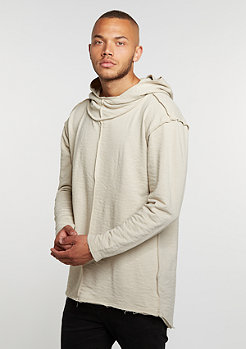 Hooded-Sweatshirt Long Slub Terry Open Edge sand