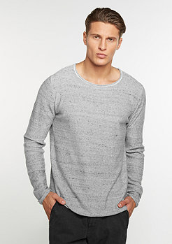 Sweatshirt Fine Knit Cotton grey melange