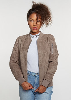 Imitation Suede Bomber taupe