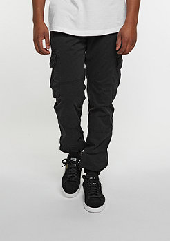 Trainingshose Washed Cargo Twill black