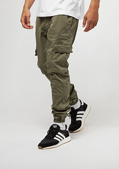 Trainingshose Washed Cargo Twill olive