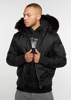Hooded Basic Bomber black
