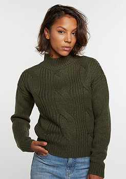 Sweatshirt Short Turtleneck olive