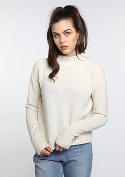 Sweatshirt Chenille Turtleneck sand