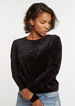 Sweatshirt Short Velvet black