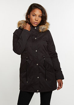 Winterjacke Sherpa Lined Peached Parka black