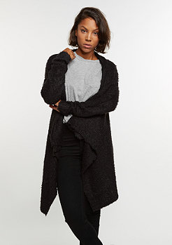 Knit Feather Cardigan black/black