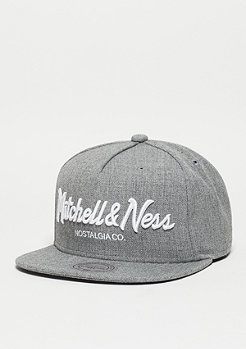 Snapback-Cap Pinscript grey heather