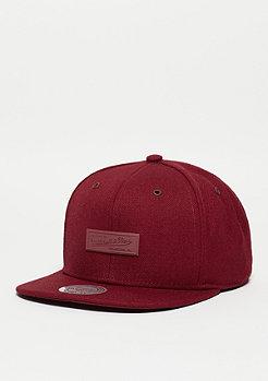 Snapback-Cap Swipe burgundy