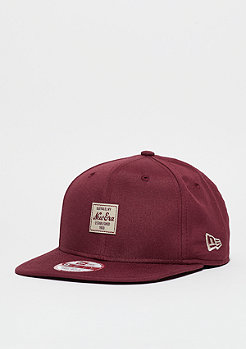 Snapback-Cap Oxford Patch maroon